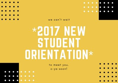 New Student Orientation 2017