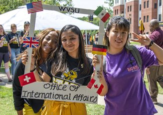 International students at State Stride