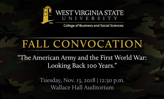 WVSU College of Business and Social Sciences Convocation to Commemorate the 100th Anniversary of the End of World War I