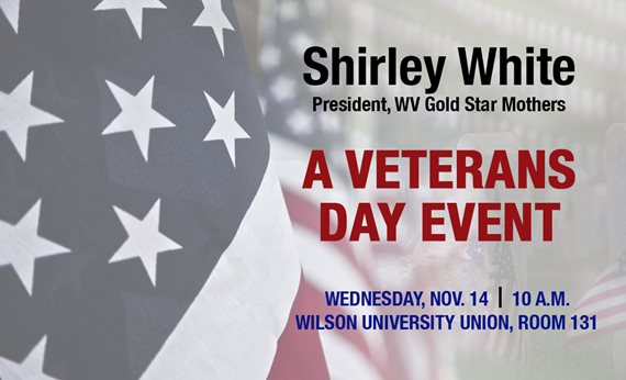 Gold Star Mother to Speak at West Virginia State University Veterans Day Event