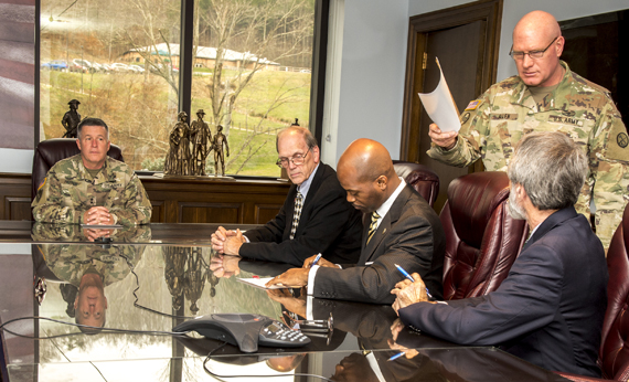 WVSU Signs Agreement with West Virginia National Guard to Develop Internships