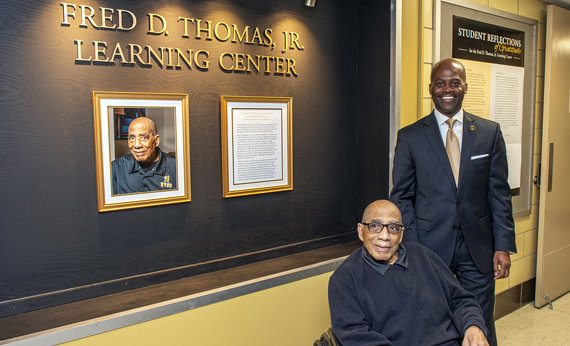 University Hosts Dedication Ceremony for Fred D. Thomas, Jr. Learning Center