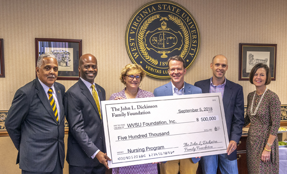 John L. Dickinson Family Awards $500,000 Challenge Grant to West Virginia State University