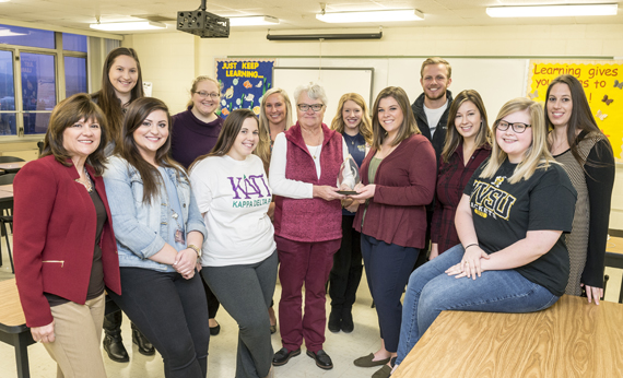 WVSU Education Honor Society Recognized with Achieving Chapter Excellence Award