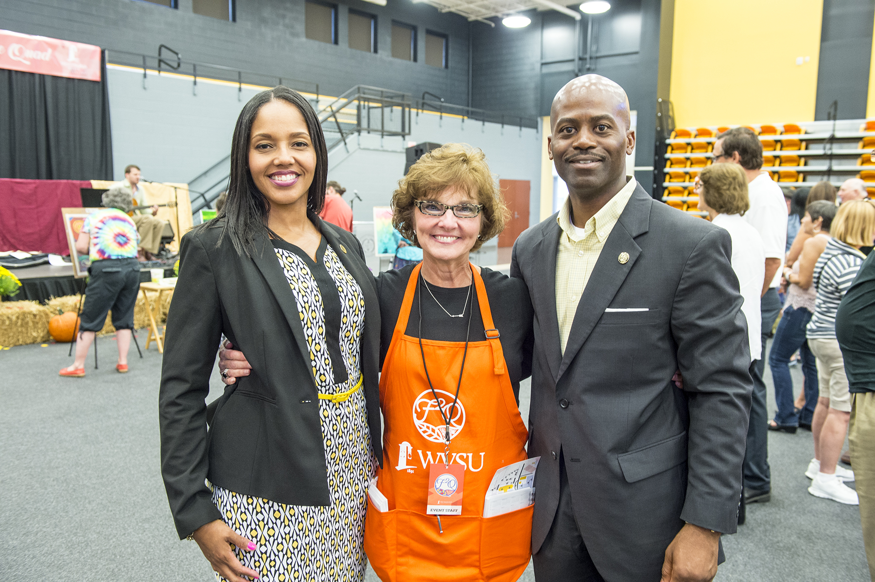 F2Q Lead Organizer Diane Strong Treister with President and First Lady Jenkins