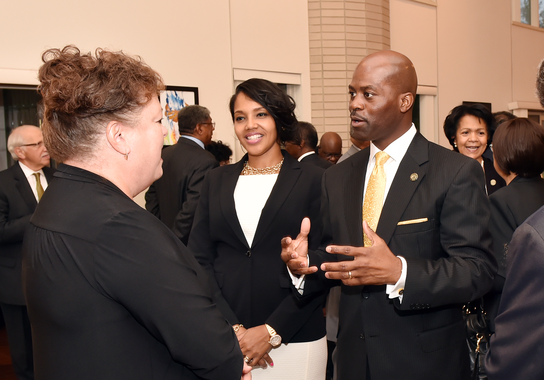 President Jenkins and First Lady Jenkins meet with President's Circle members