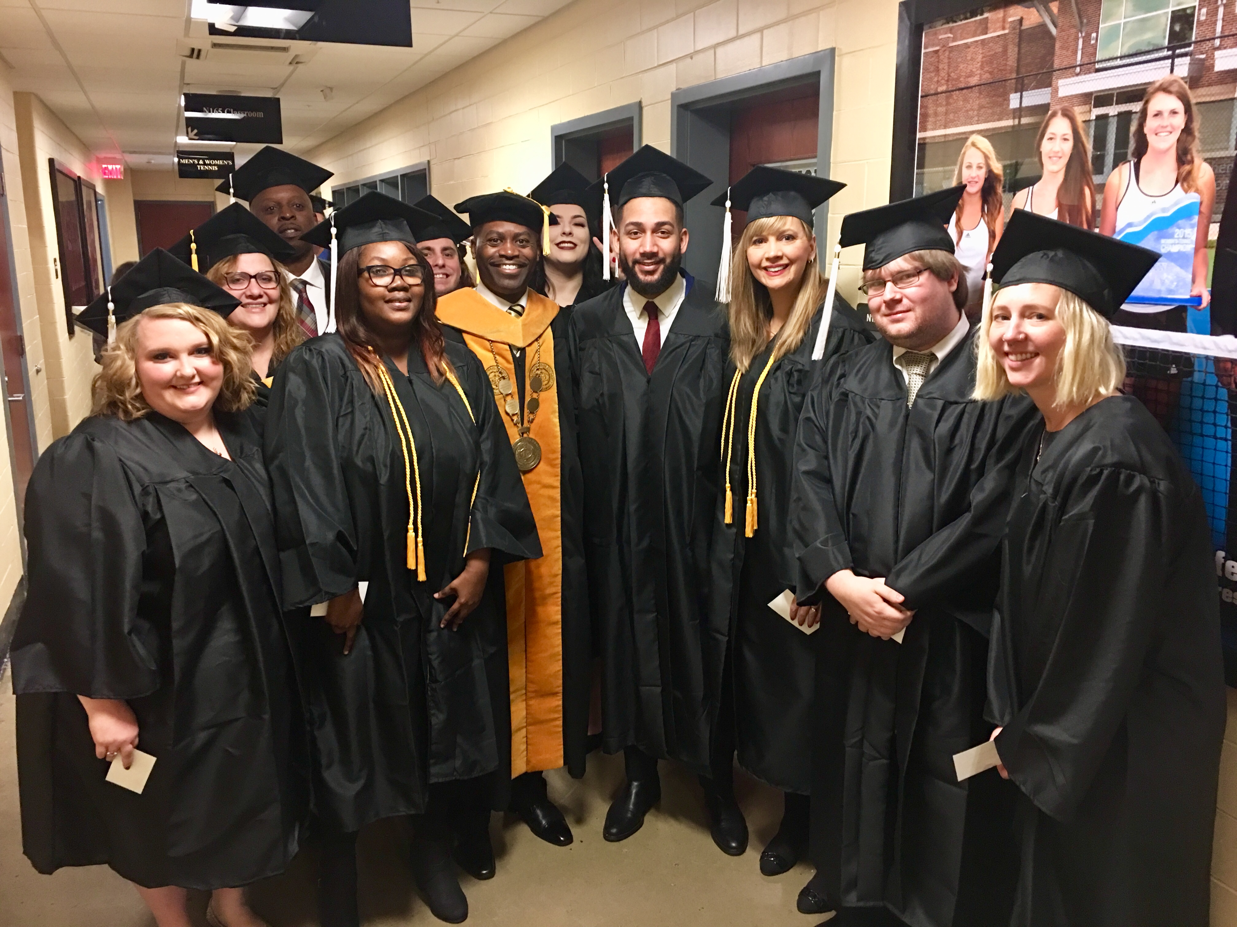 President Jenkins with December 2017 Graduating Students