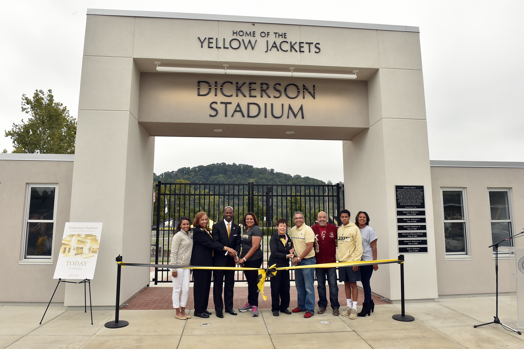 Ribbon Cutting for Dickerson Stadium