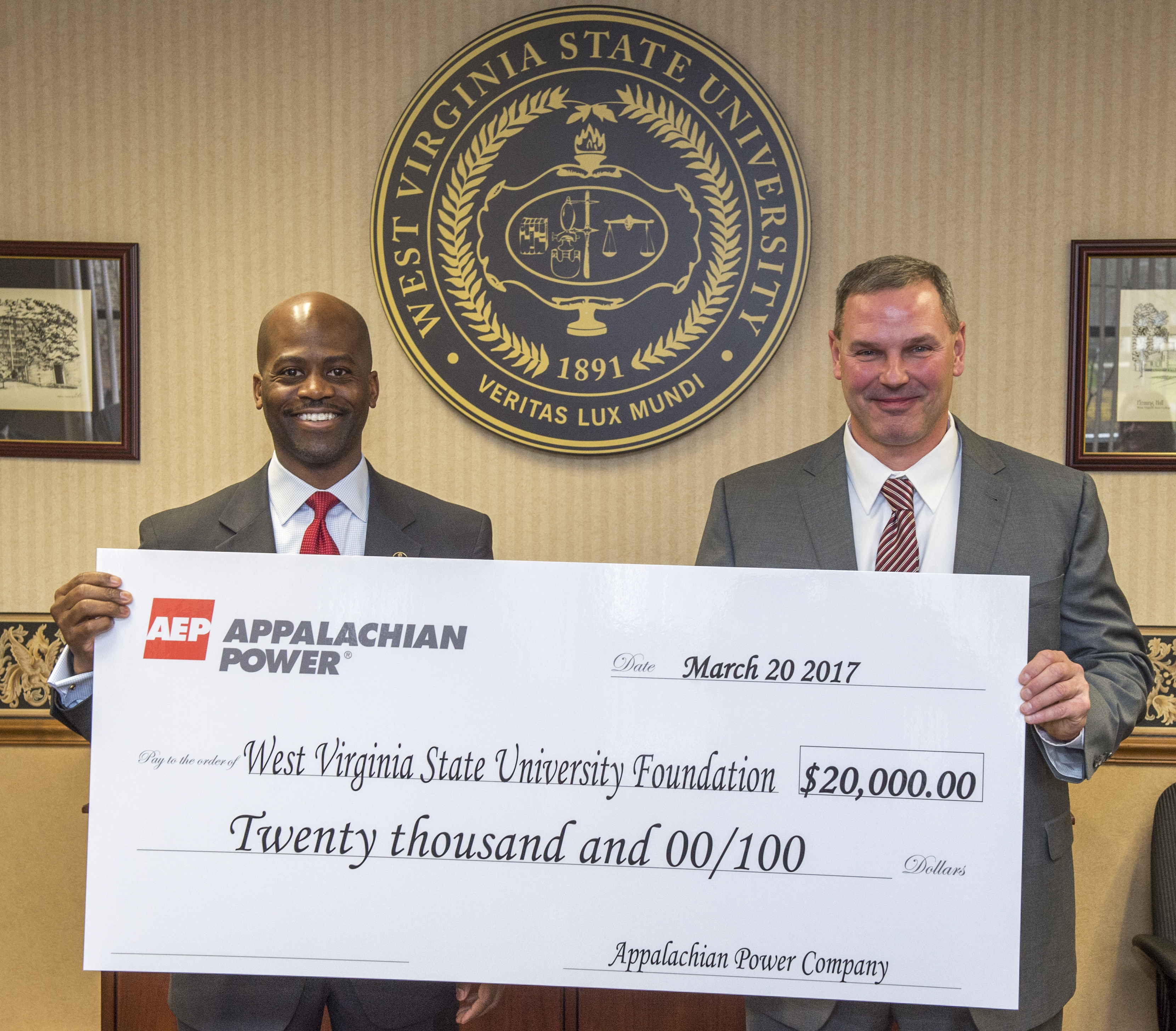 WVSU Foundation receives funding support from AEP