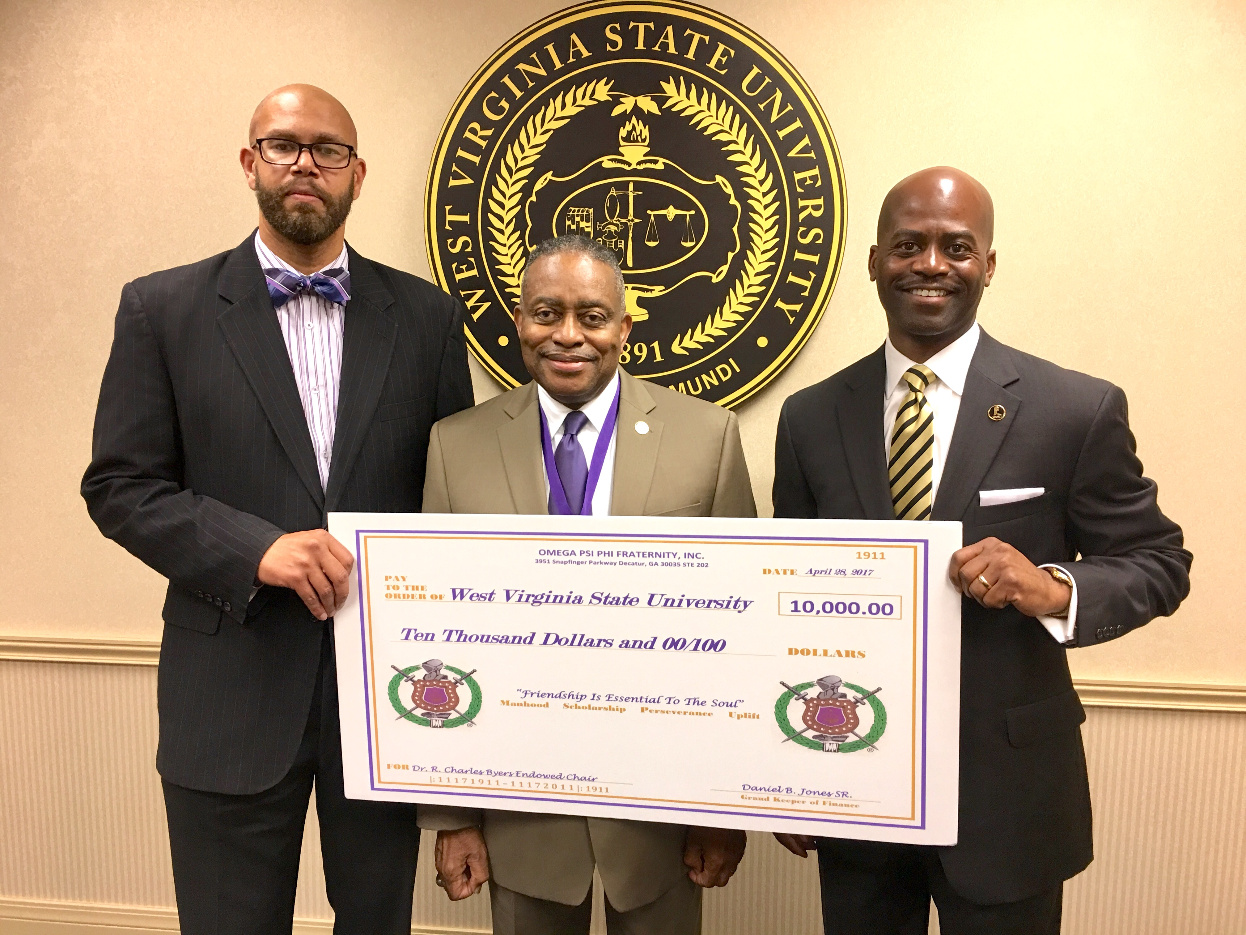 Omega Psi Phi Dr. Byers Endowed Chair Donation