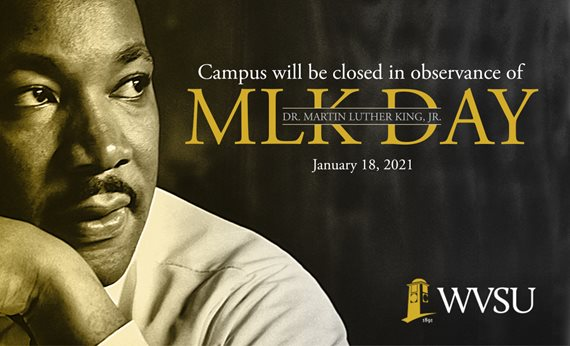 Campus Offices Closed in Observance of Martin Luther King, Jr. Holiday