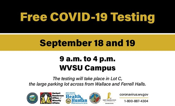 Free COVID-19 Testing Sept. 18-19 at West Virginia State University