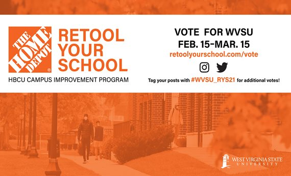 Vote for WVSU in Retool Your School Program