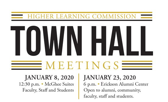 Town Hall Meetings Set For January to Discuss Accreditation, Upcoming HLC Visit