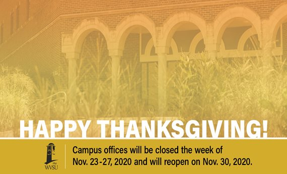 Campus Offices Closed for Thanksgiving