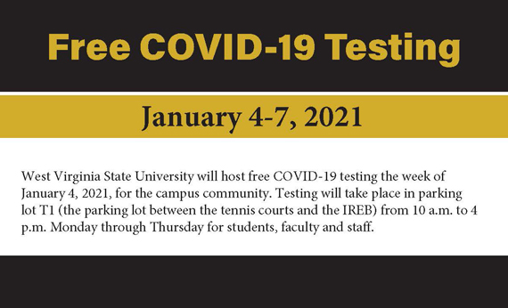 COVID-19 Testing on Campus January 4-7
