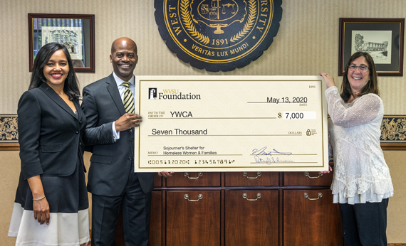 West Virginia State University Makes Donation to YWCA Sojourner's Shelter